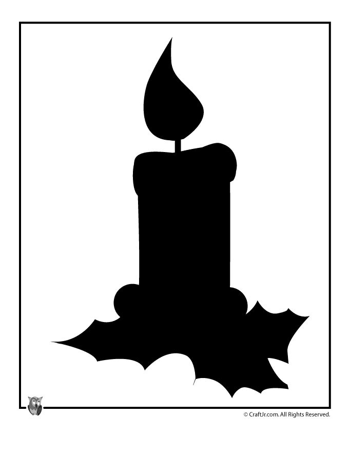 Christmas Candle Silhouette