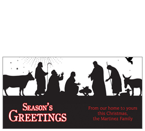 289x261 Personalized Corporate Christmas Greeting Cards