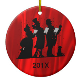 307x307 Victorian Silhouette Christmas Tree Decorations Amp Baubles Zazzle