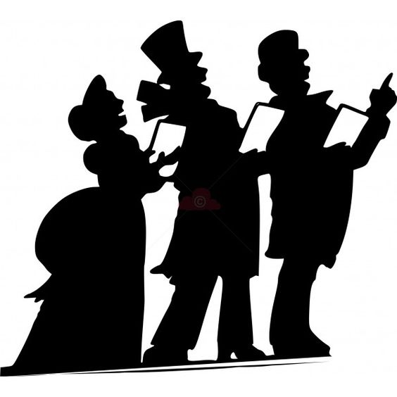 564x564 Carolers Svg Die Cutting Cricut, Silhouettes