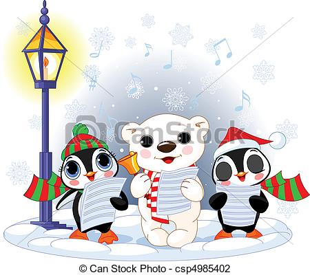 450x400 Christmas Carolers %u2013 Polar Bear An. Christmas Carolers