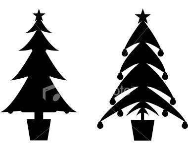 380x301 Christmas Tree Silhouettes For The Santa Silhouette Craft