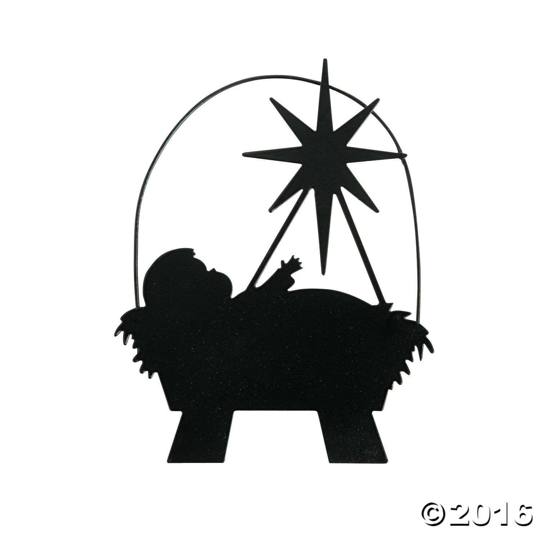 1500x1500 Silhouette Manger Ornaments Silhouettes, Ornament And Cricut