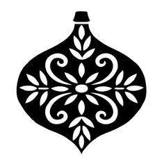 236x236 Black And White Christmas Ornaments