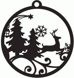 284x300 Christmas Ornament Diy Papercut Template Christmas Ornament