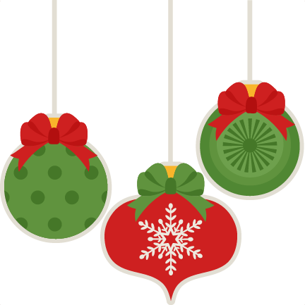 432x433 Christmas Ornament Set Scrapbook Cut File Cute Clipart Files