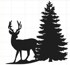 280x257 Happy2bscrappin' Deer Silhouette With Tree Misc