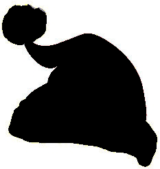 christmas hat silhouette at getdrawings com free for personal use