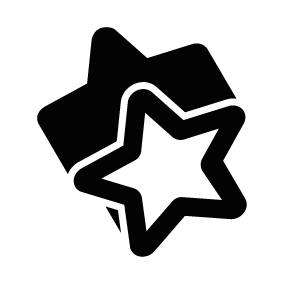 283x283 Silhouette Clipart Christmas Star Outline