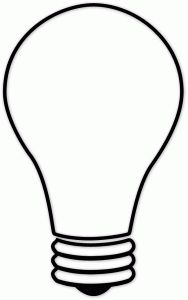 Christmas Light Bulb Silhouette at GetDrawings.com | Free for ...