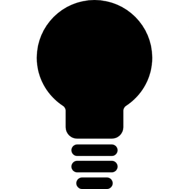 626x626 Light Bulb Black Shape Icons Free Download