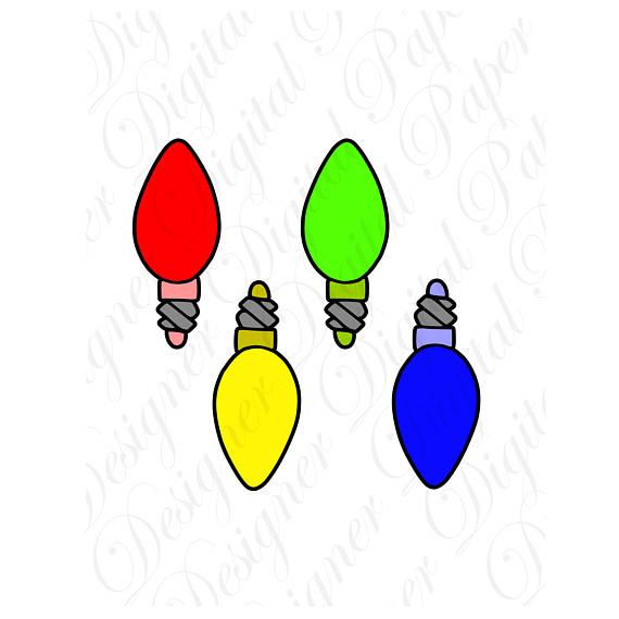 570x570 Christmas Light Bulbs Svg And Studio 3 Cut File Cutouts Files