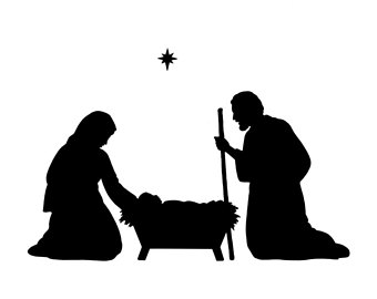 340x270 Nativity Scene Vinyl Lettering Fits Perfect On 8x8 Inch