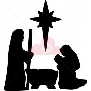 300x300 Nativity Scene Silhouettes Christmas Silhouette