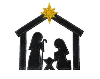 340x270 Nativity Silhouette Etsy