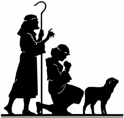 400x382 Shepherds Christmas Silhouettes, Cricut
