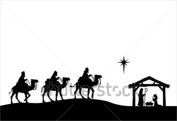 600x411 Nativity Silhouettes