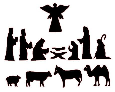458x369 Free Silhoutte Nativity Scene Patterns Free Nativity Silhouette