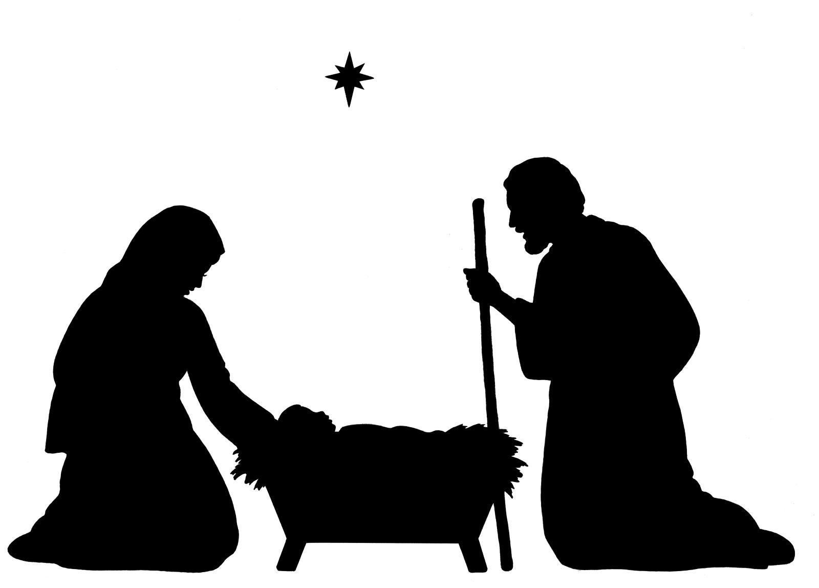 1600x1148 Christmas Nativity Silhouette Clip Art