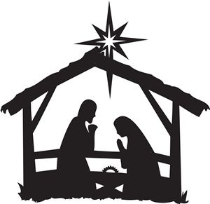 300x291 I Love This Nativity Silhouette! I Want To Make It Into A Painted
