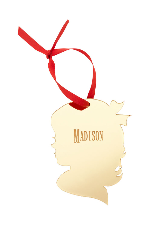 600x900 Personalized Vintage Silhouette Acrylic Christmas Ornament
