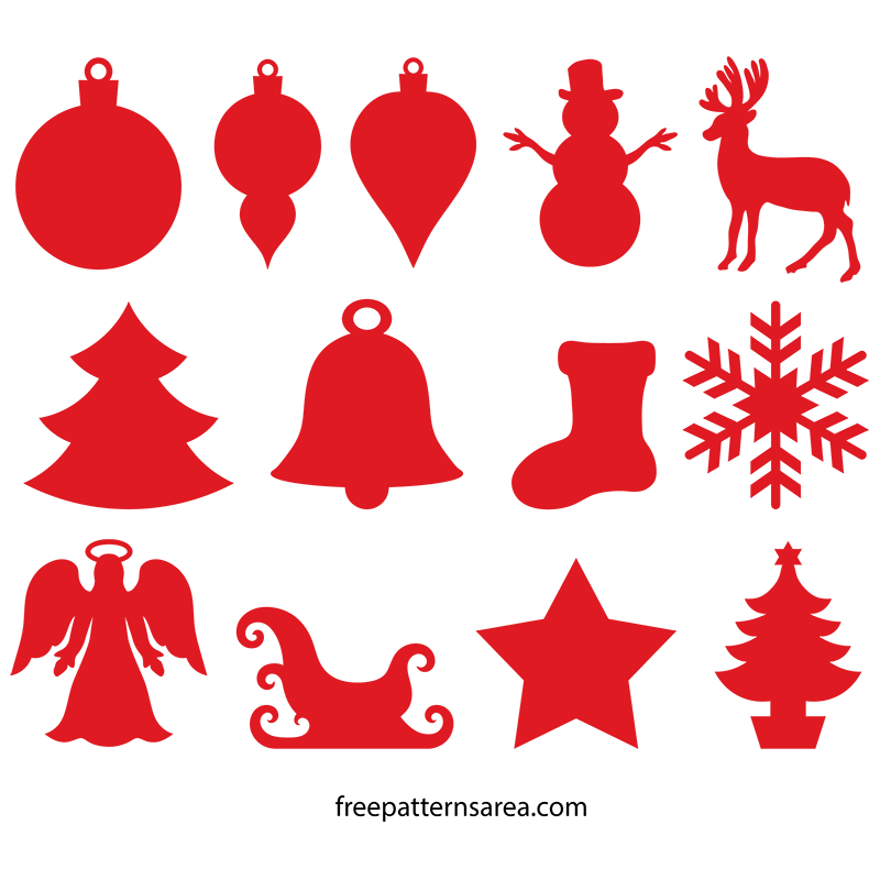 800x800 Winter And Christmas Ornament Cutouts Wood Templates