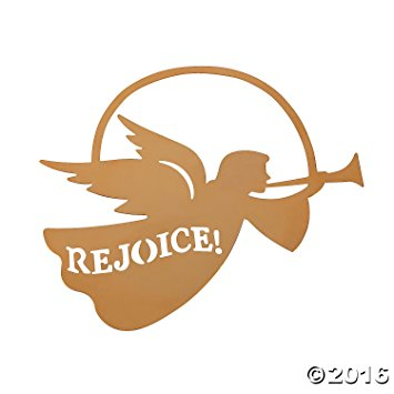 355x355 Rejoice Silhouette Angel Christmas Ornaments Home