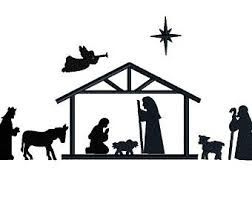 252x200 Image Result For Nativity Scene Silhouette Christmas