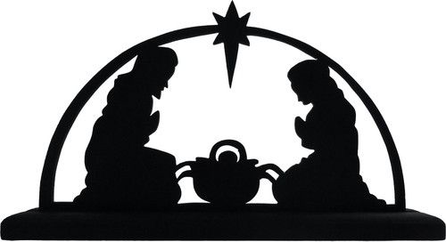500x272 Nativity Scene Decorative Display Silhouette Great Christmas