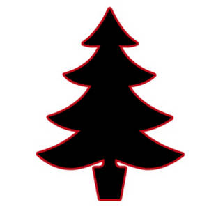 300x300 Silhouette Clipart Image Of A Christmas Tree