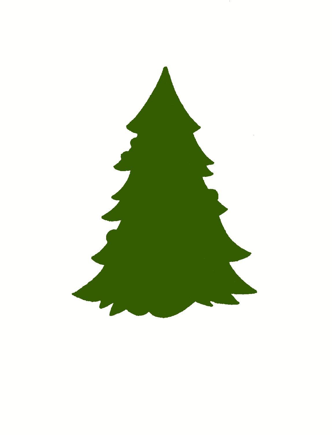 1148x1505 Christmas Tree Silhouette Clipart