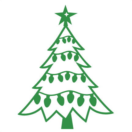 432x432 Christmas Tree Svg Scrapbook Cut File Cute Clipart Files