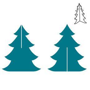 290x290 Christmas Tree Steel Rule Die Accucut Craft Holidays