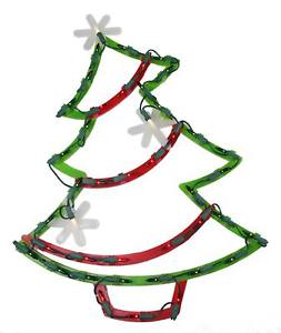 253x300 Impact 18 Lighted Christmas Tree With Star Ornaments Window