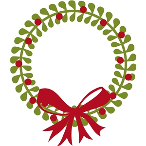 300x300 Christmas Wreath Silhouette Clipart Collection