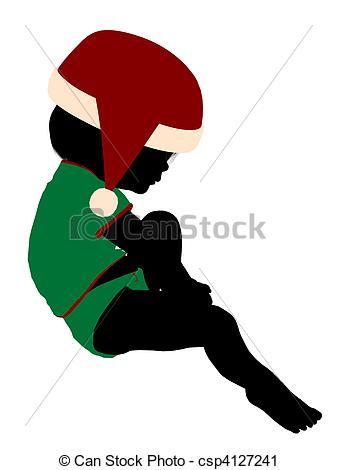 337x470 Female Christmas Infant Toddler Illustration Silhouette