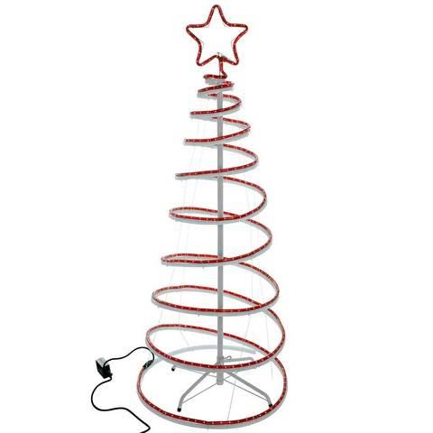 480x480 5ft 150 Cm Flashing 3d Spiral Christmas Tree Rope Light Silhouette