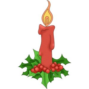 300x300 Silhouette Design Store Christmas Candle 1 Candles And Lights