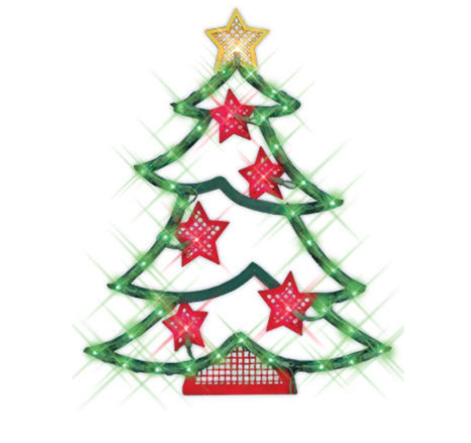 1500x1413 Northlight 18 In. Lighted Christmas Tree With Stars