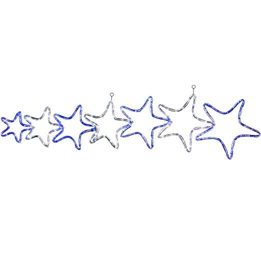522x522 Werchristmas 7 Star Motif Led Rope Lights Silhouette Christmas