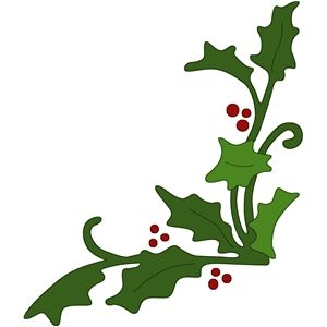 300x300 Holly Corner Embellishment Silhouette Design, Silhouettes And Corner