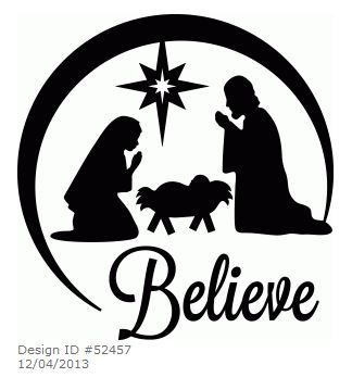 324x359 Oh Holy Night Nativity Silhouette Design, Holy Night And Silhouette