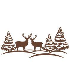 236x236 Santa Merry Christmas To All Scene Silhouette Design, Merry