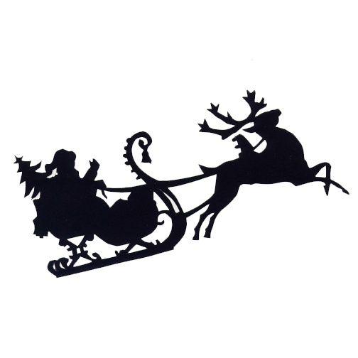 504x504 Santa Sleigh Christmas Silhouettes Template Merry Christmas