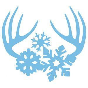 Christmas Snowflake Silhouette