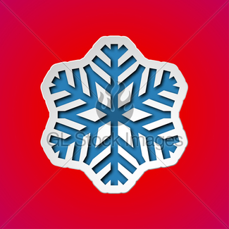 325x325 Cut Out Christmas Snowflake Gl Stock Images