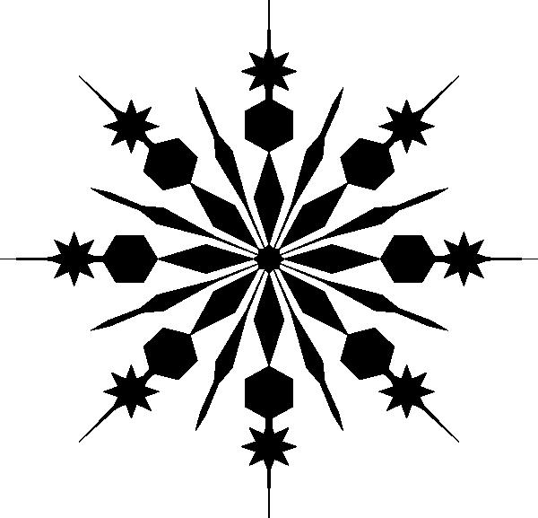 600x577 Snowflake Silhouette Clip Art