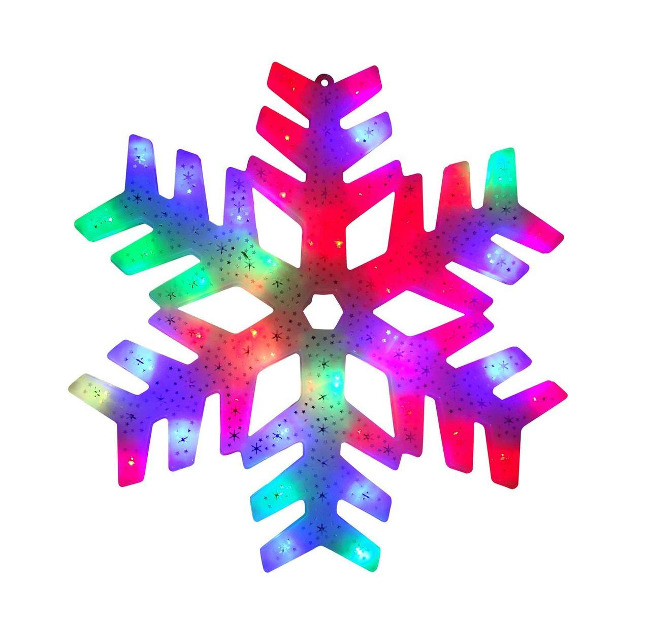 1280x1219 15 Led Color Changing Christmas Snowflake Window Silhouette