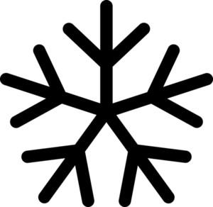 300x292 Christmas Snowflake Silhouette Royalty Free Stock Image