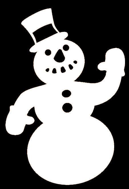 Christmas Snowman Silhouette